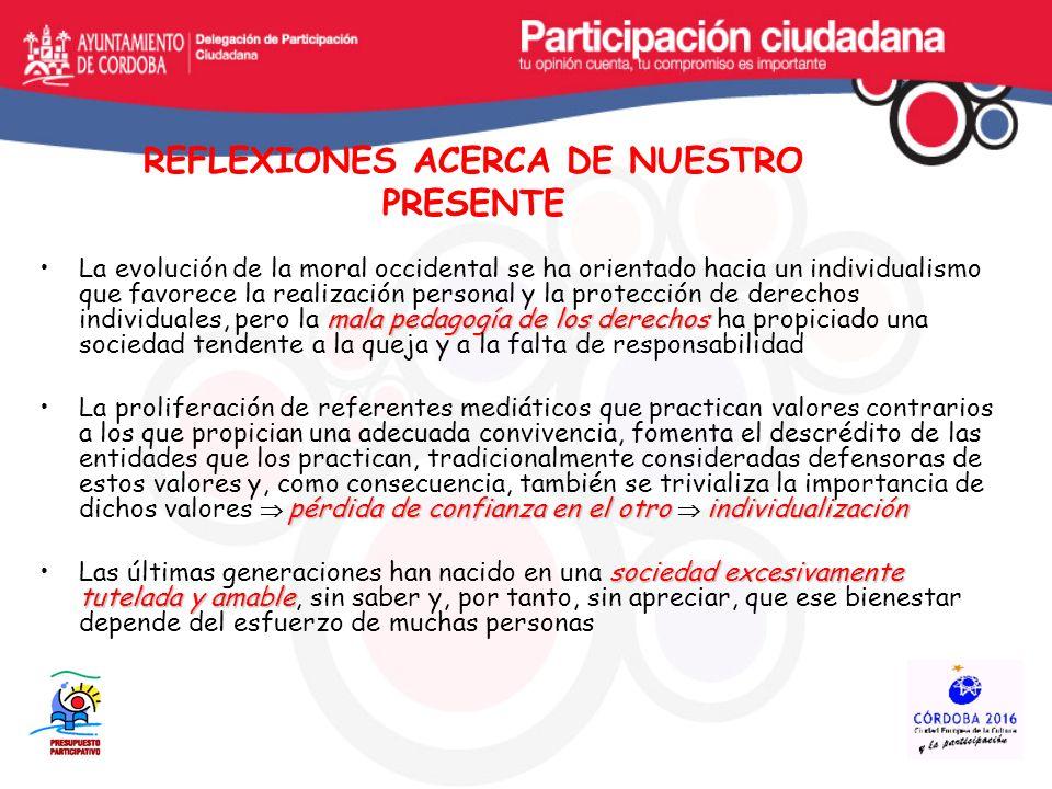 REFLEXIONES ACERCA DE NUESTRO PRESENTE