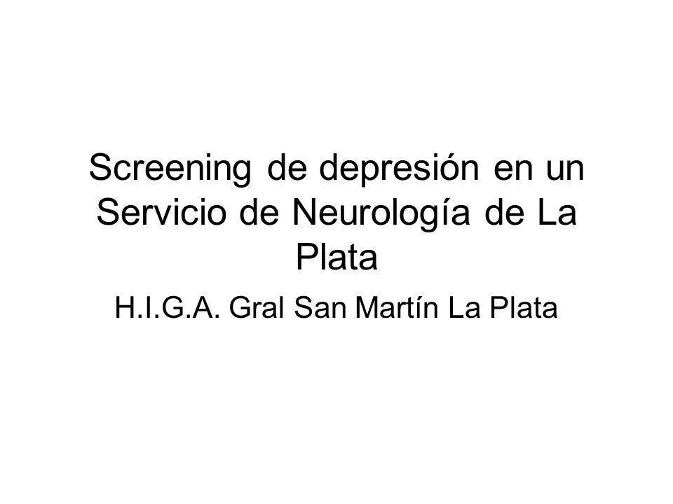 Screening de depresión en un Servicio de Neurología de La Plata