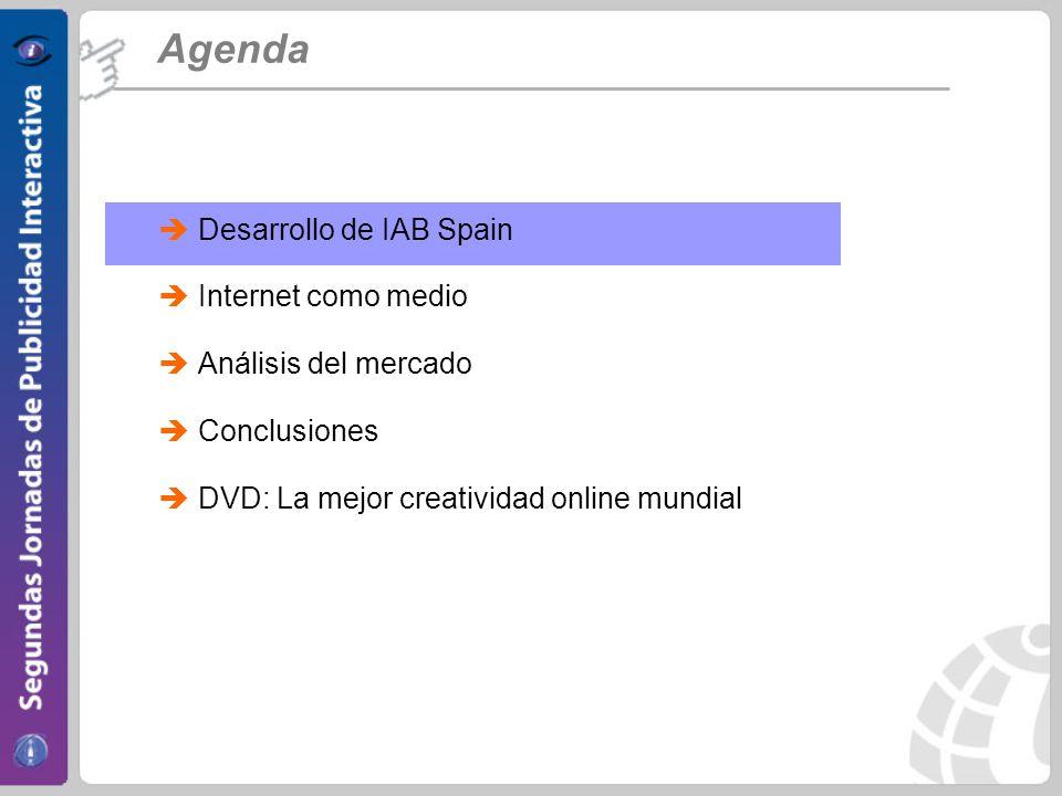 Agenda Desarrollo de IAB Spain Internet como medio