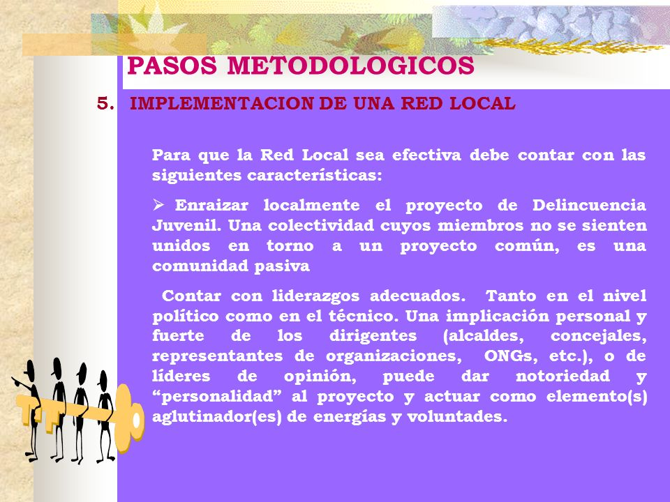 PASOS METODOLOGICOS 5. IMPLEMENTACION DE UNA RED LOCAL