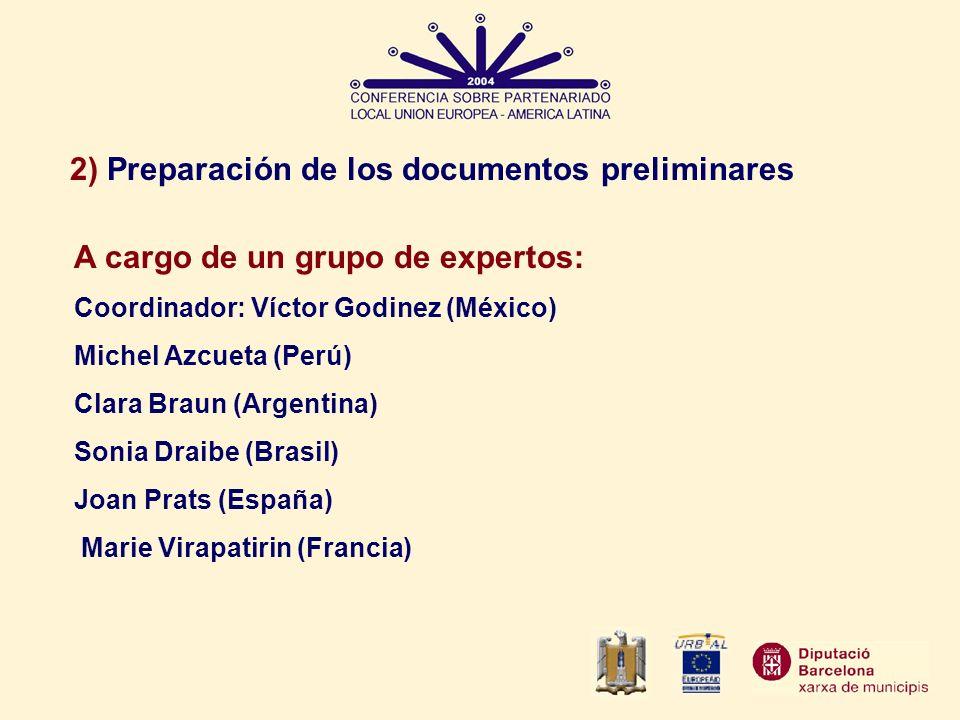 2) Preparación de los documentos preliminares