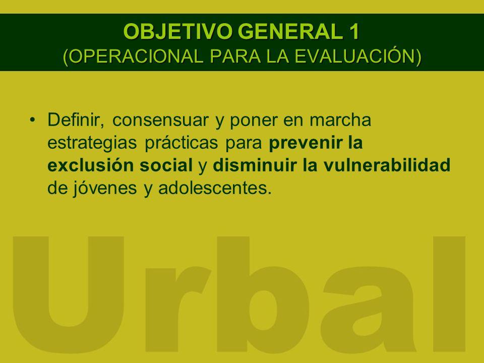 OBJETIVO GENERAL 1 (OPERACIONAL PARA LA EVALUACIÓN)