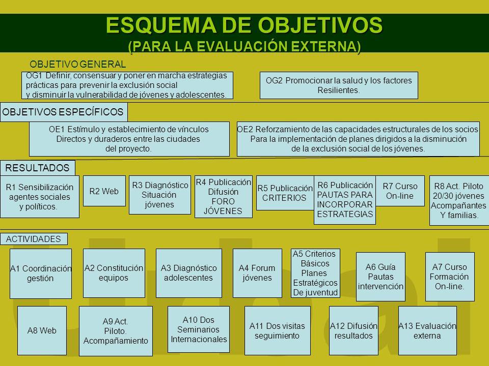 ESQUEMA DE OBJETIVOS (PARA LA EVALUACIÓN EXTERNA)