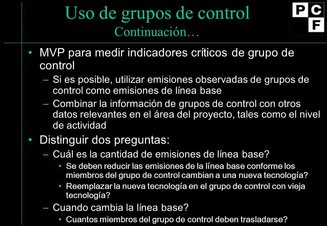 Uso de grupos de control Continuación…
