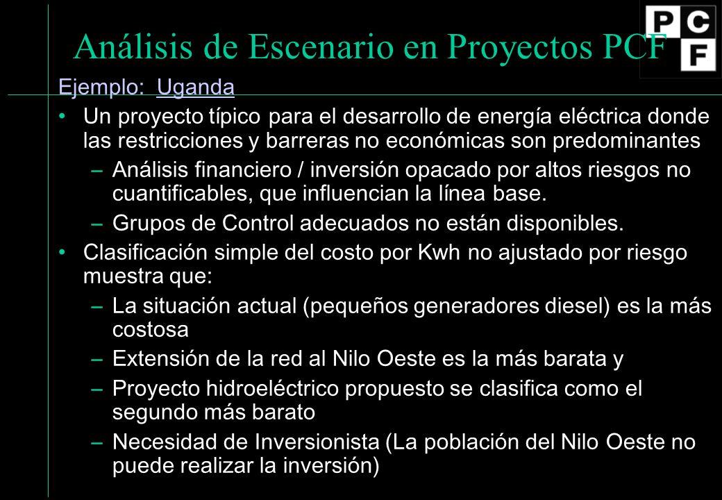 Análisis de Escenario en Proyectos PCF