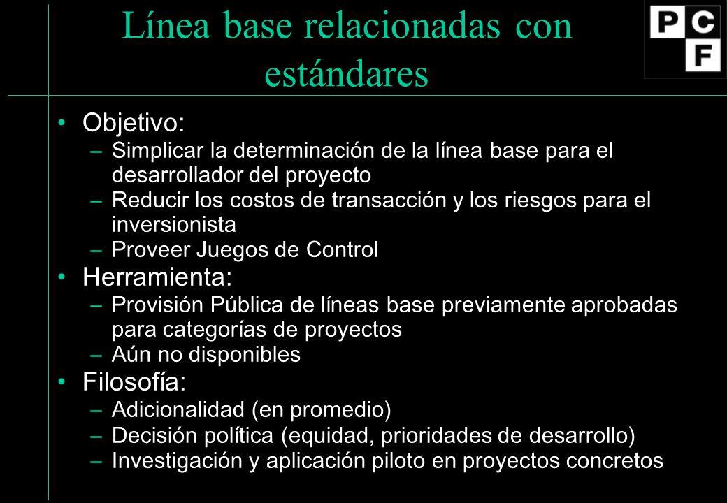 Línea base relacionadas con estándares