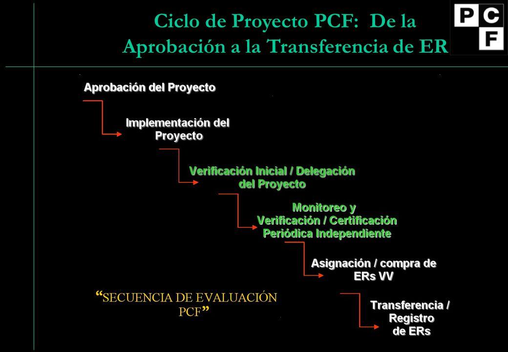Ciclo de Proyecto PCF: De la Aprobación a la Transferencia de ER