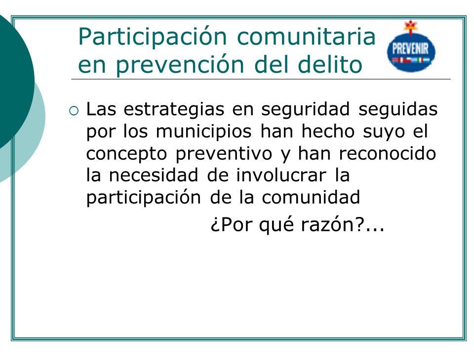 Participación comunitaria en prevención del delito