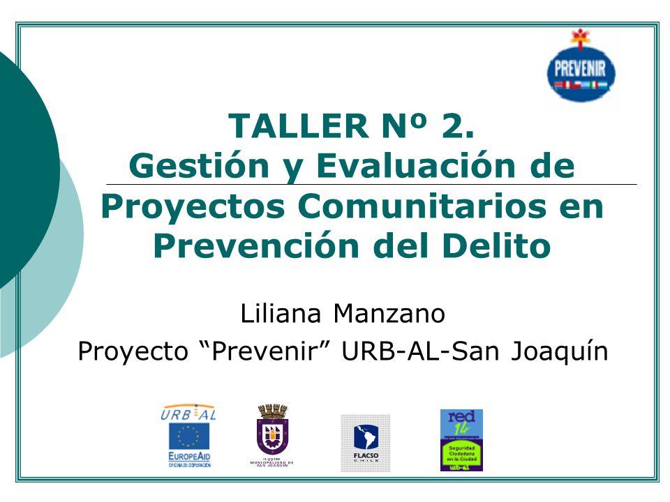 Liliana Manzano Proyecto Prevenir URB-AL-San Joaquín