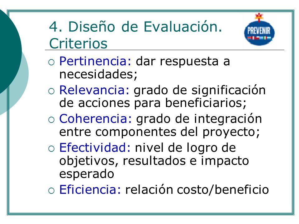 4. Diseño de Evaluación. Criterios