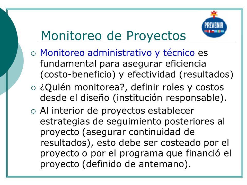 Monitoreo de Proyectos