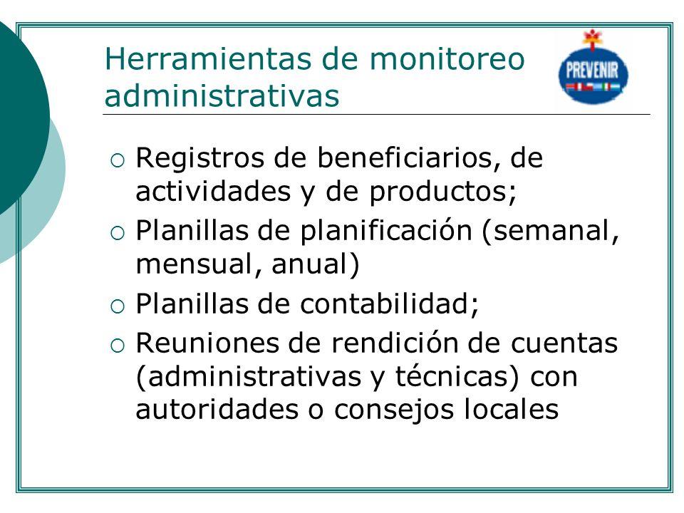 Herramientas de monitoreo administrativas