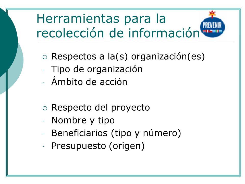 Herramientas para la recolección de información