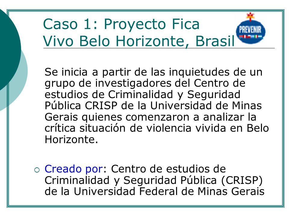Caso 1: Proyecto Fica Vivo Belo Horizonte, Brasil