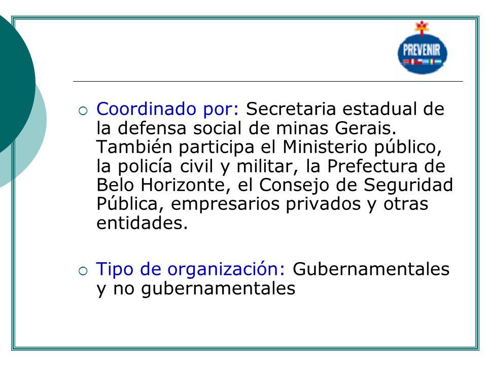 Tipo de organización: Gubernamentales y no gubernamentales