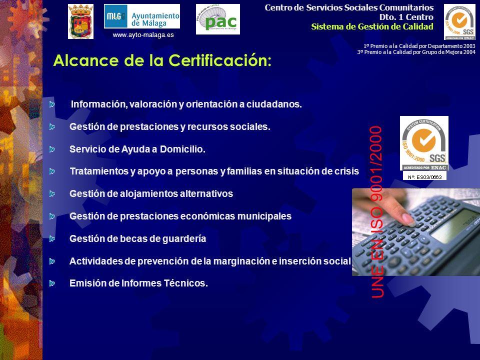 Alcance de la Certificación: