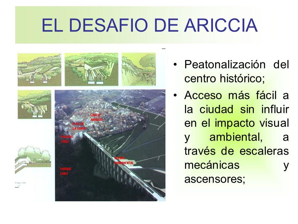 EL DESAFIO DE ARICCIA Peatonalización del centro histórico;