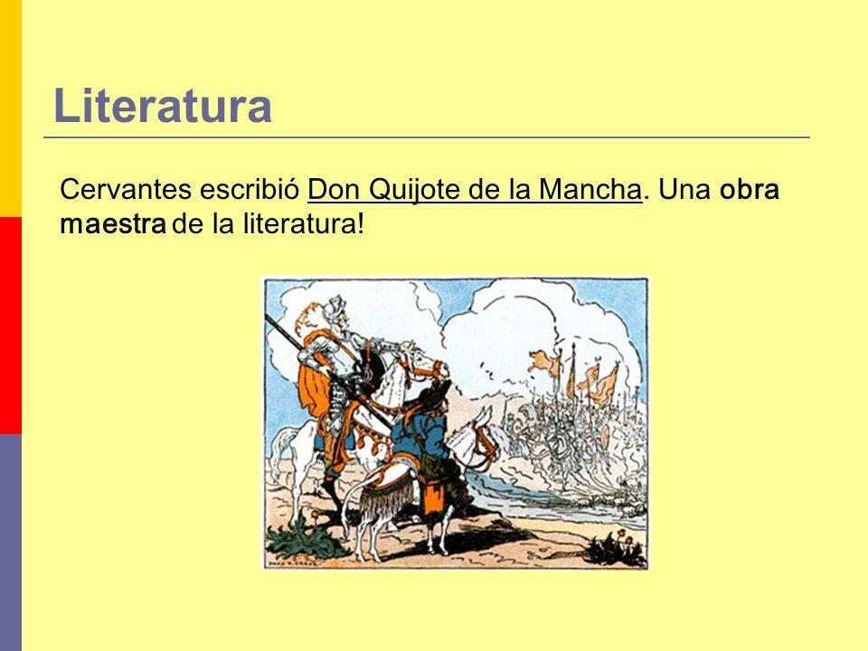 Literatura Cervantes escribió Don Quijote de la Mancha. Una obra maestra de la literatura!