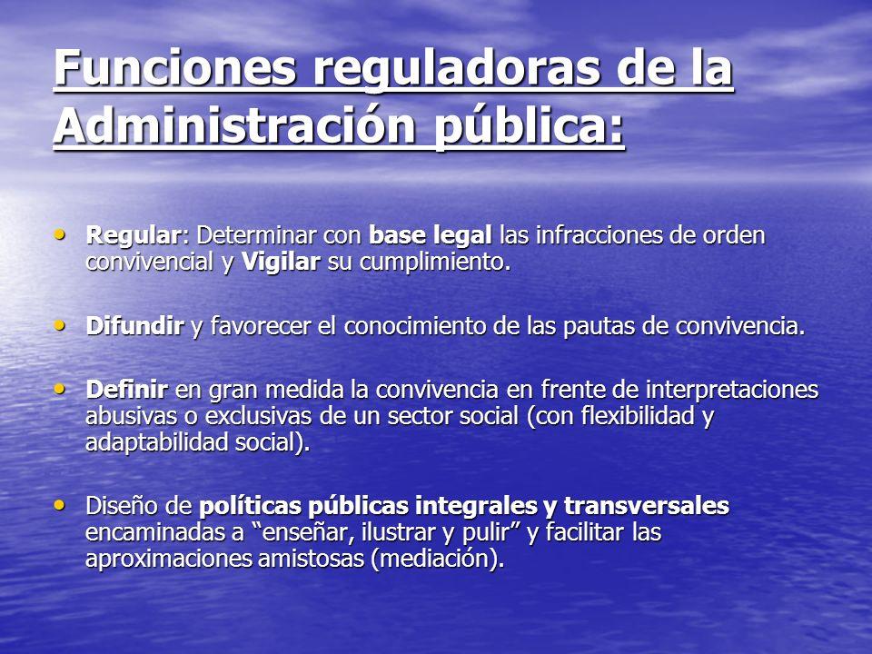 Funciones reguladoras de la Administración pública: