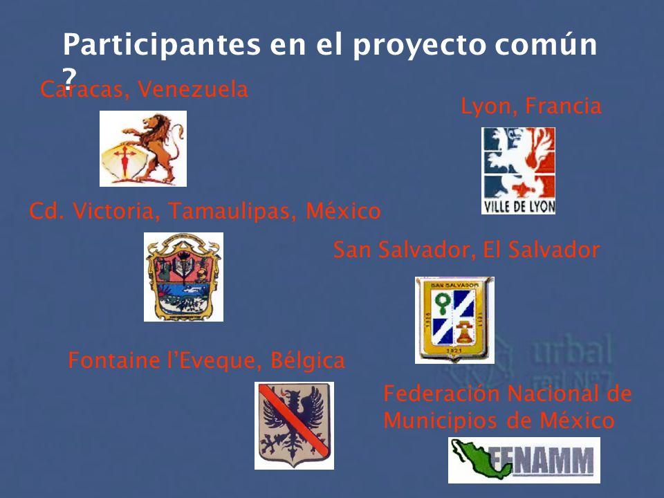 Participantes en el proyecto común