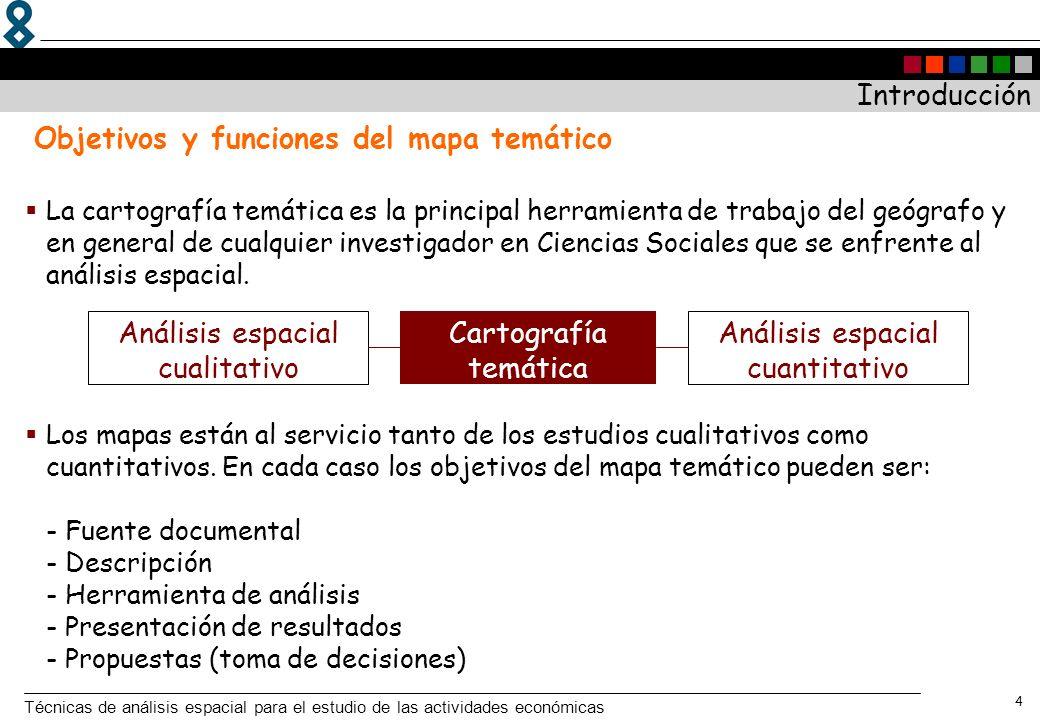 Objetivos y funciones del mapa temático