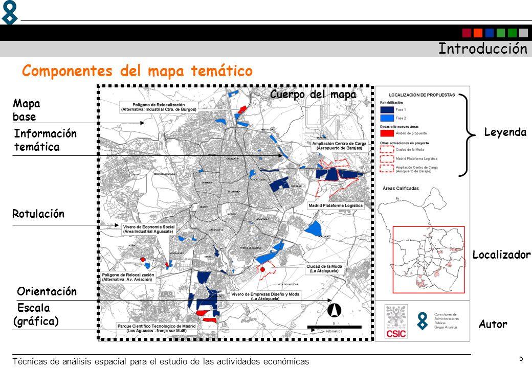 Componentes del mapa temático
