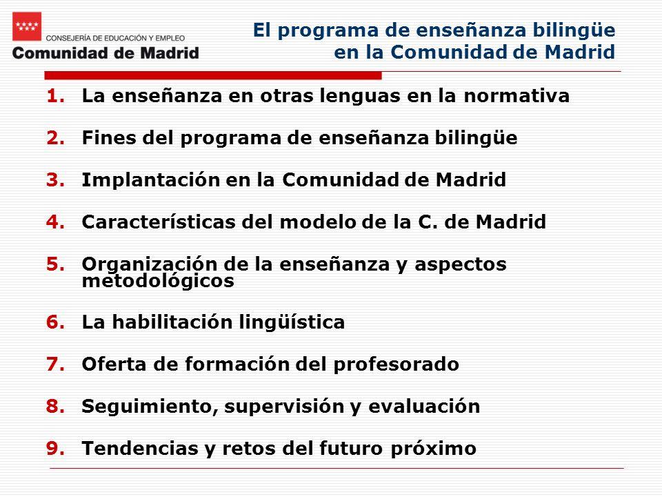 El programa de enseñanza bilingüe en la Comunidad de Madrid