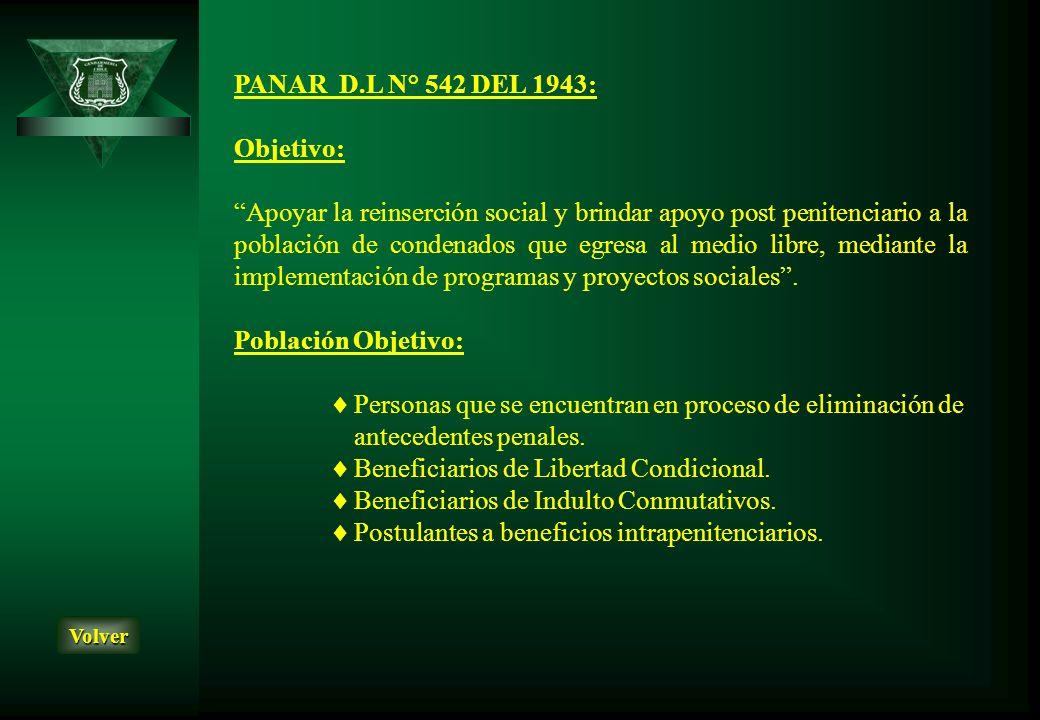 Beneficiarios de Libertad Condicional.