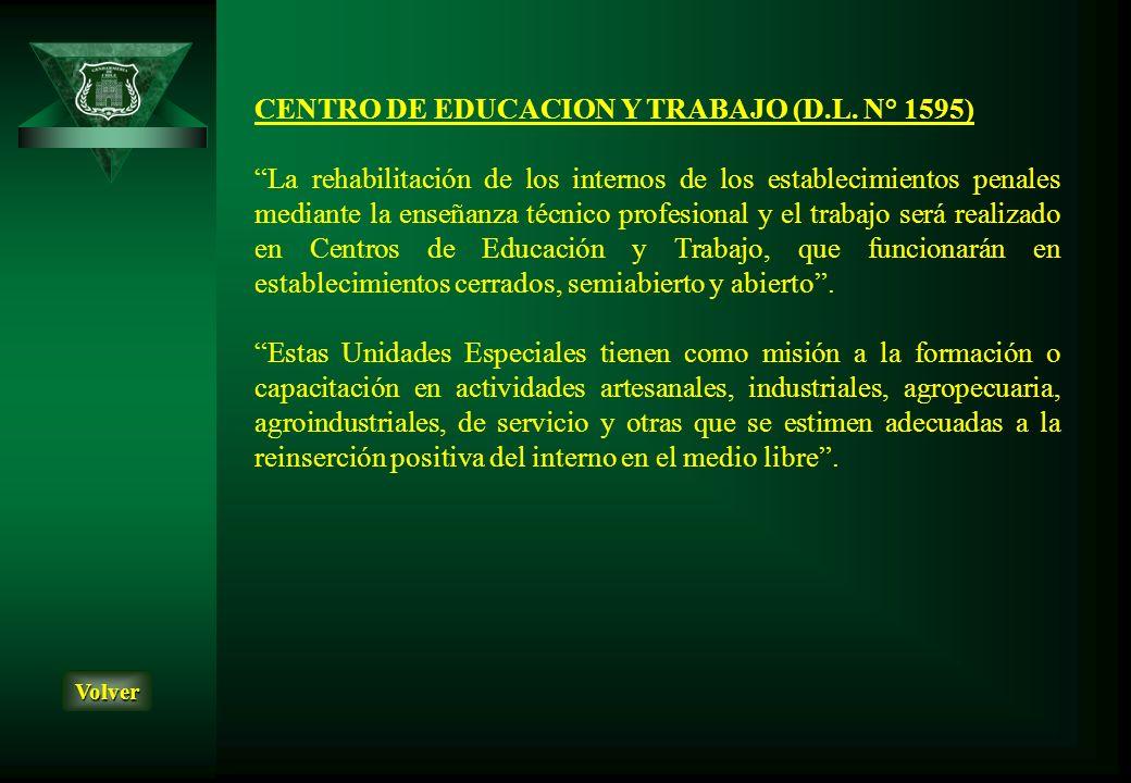 CENTRO DE EDUCACION Y TRABAJO (D.L. N° 1595)