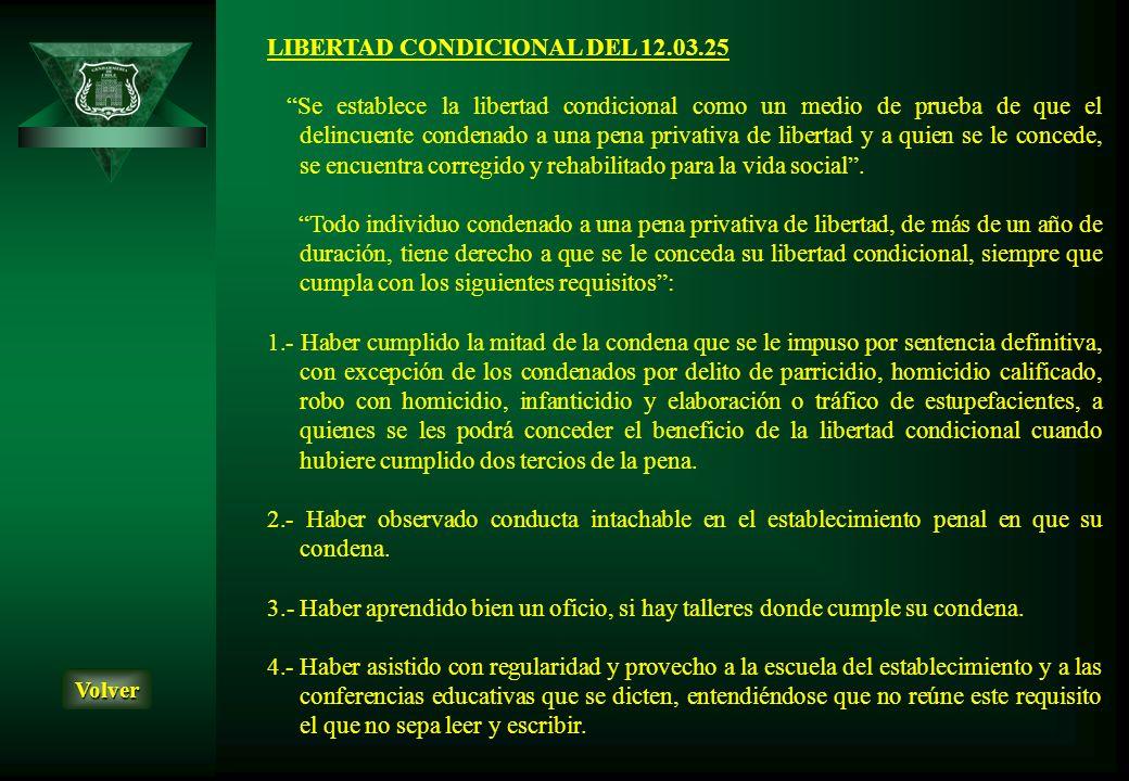 LIBERTAD CONDICIONAL DEL 12.03.25