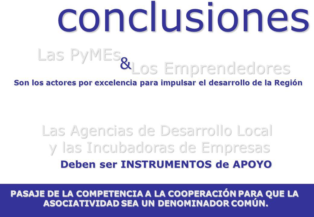 conclusiones Las PyMEs & Los Emprendedores