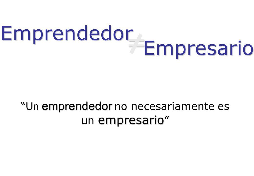 Un emprendedor no necesariamente es