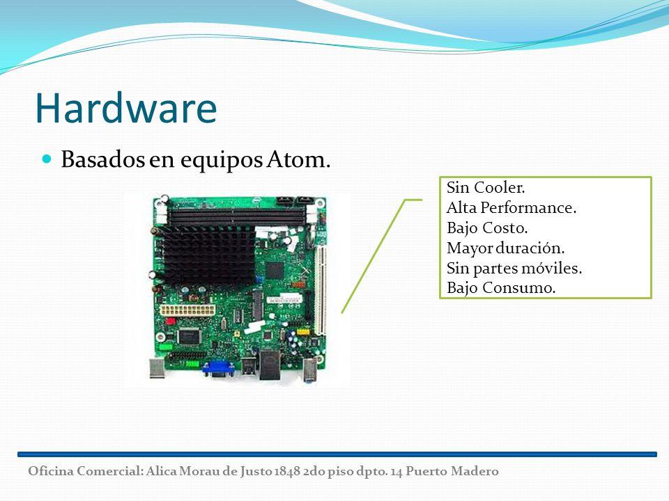 Hardware Basados en equipos Atom. Sin Cooler. Alta Performance.