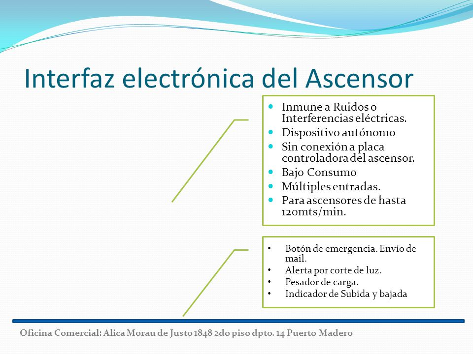 Interfaz electrónica del Ascensor