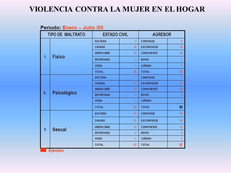 VIOLENCIA CONTRA LA MUJER EN EL HOGAR
