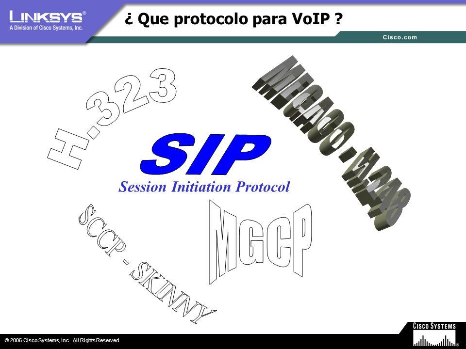 ¿ Que protocolo para VoIP