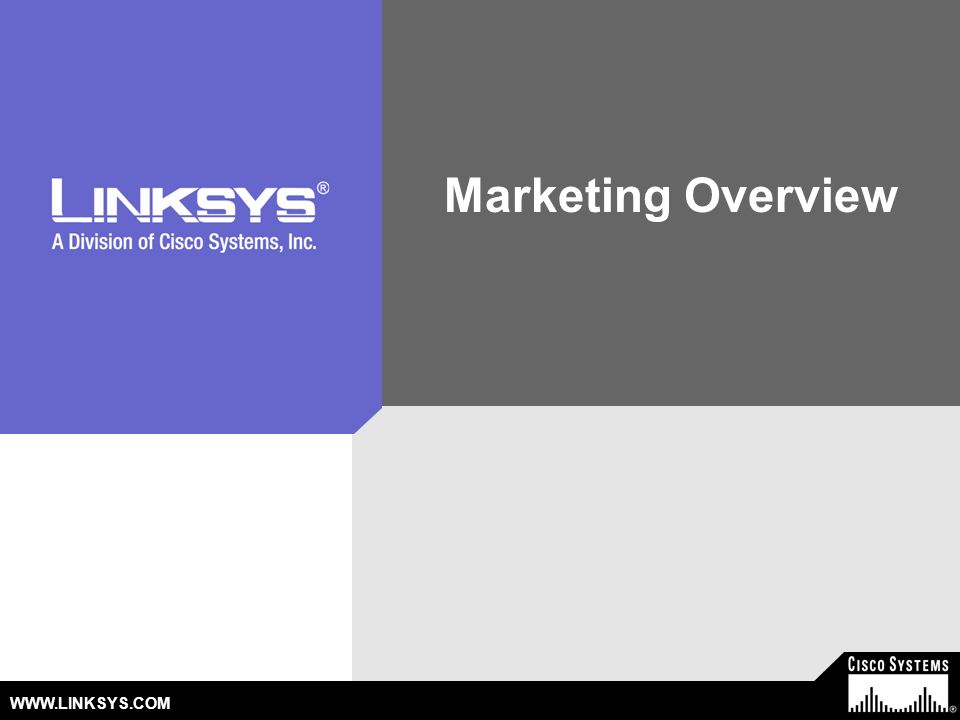 Marketing Overview WWW.LINKSYS.COM