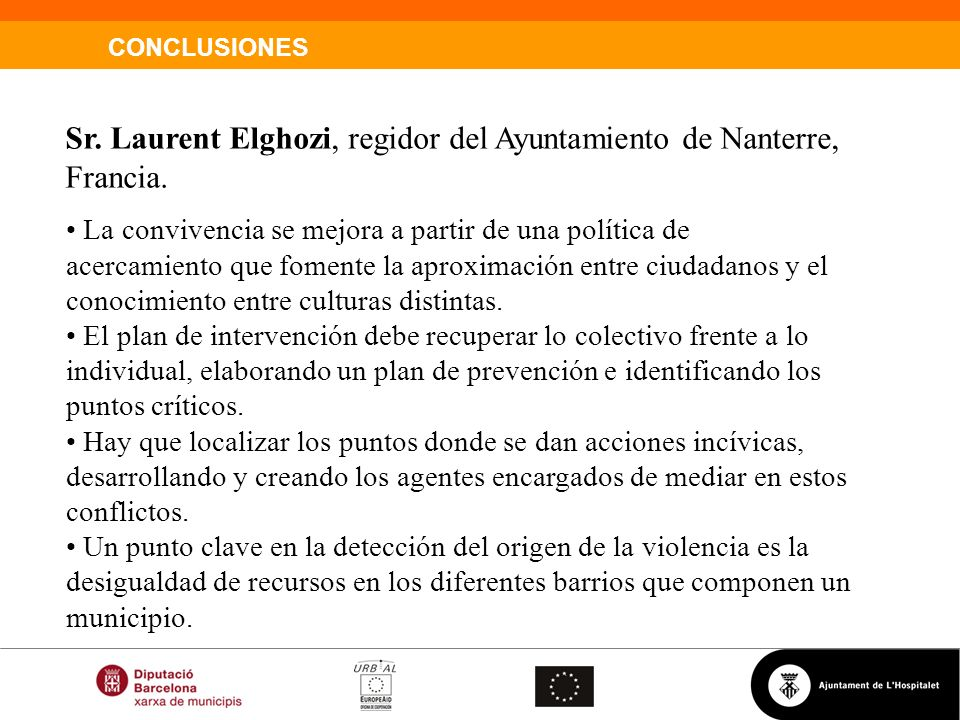 Sr. Laurent Elghozi, regidor del Ayuntamiento de Nanterre, Francia.