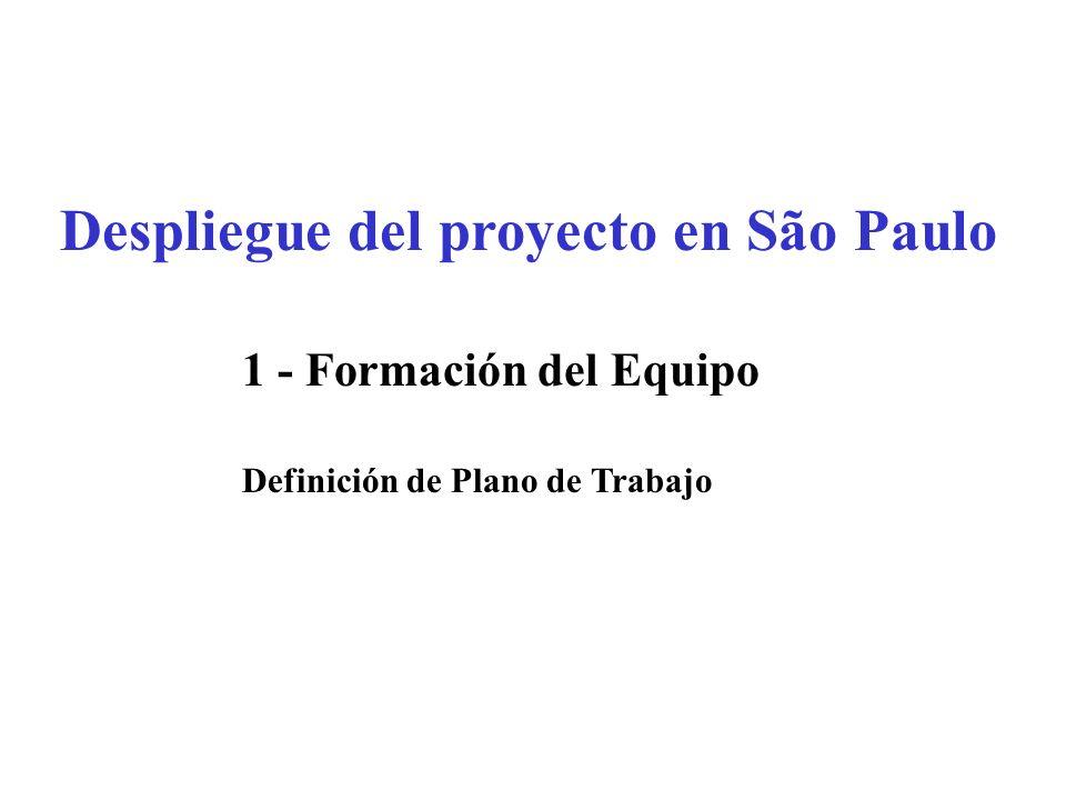 Despliegue del proyecto en São Paulo