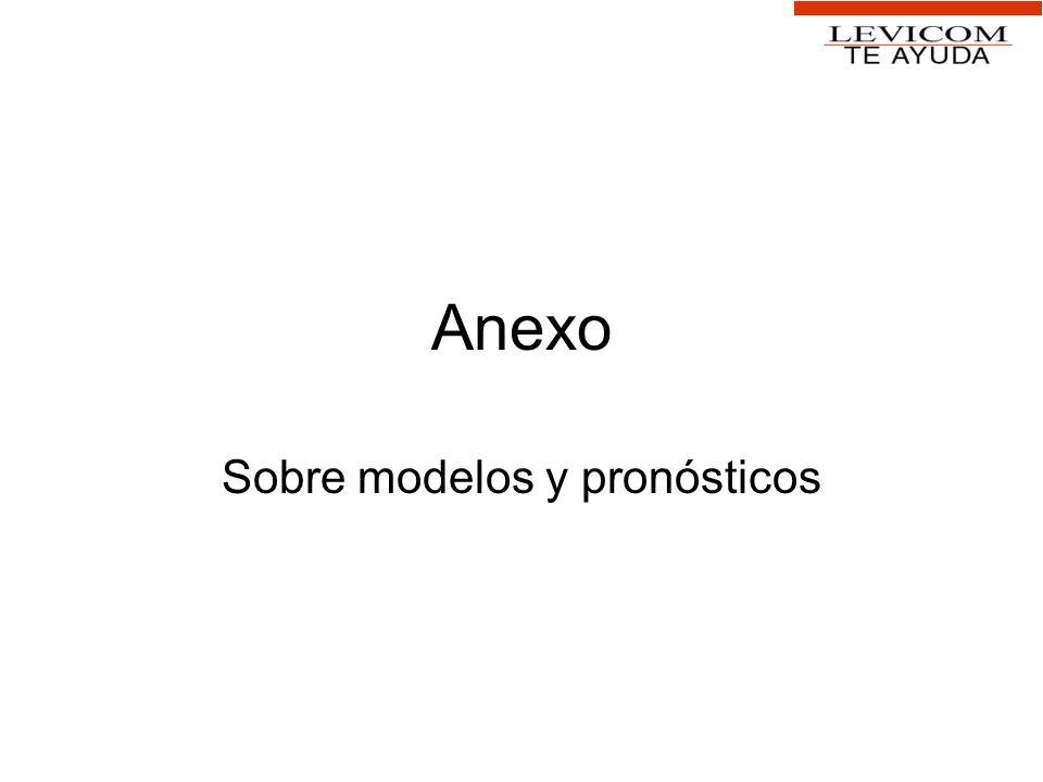 Sobre modelos y pronósticos