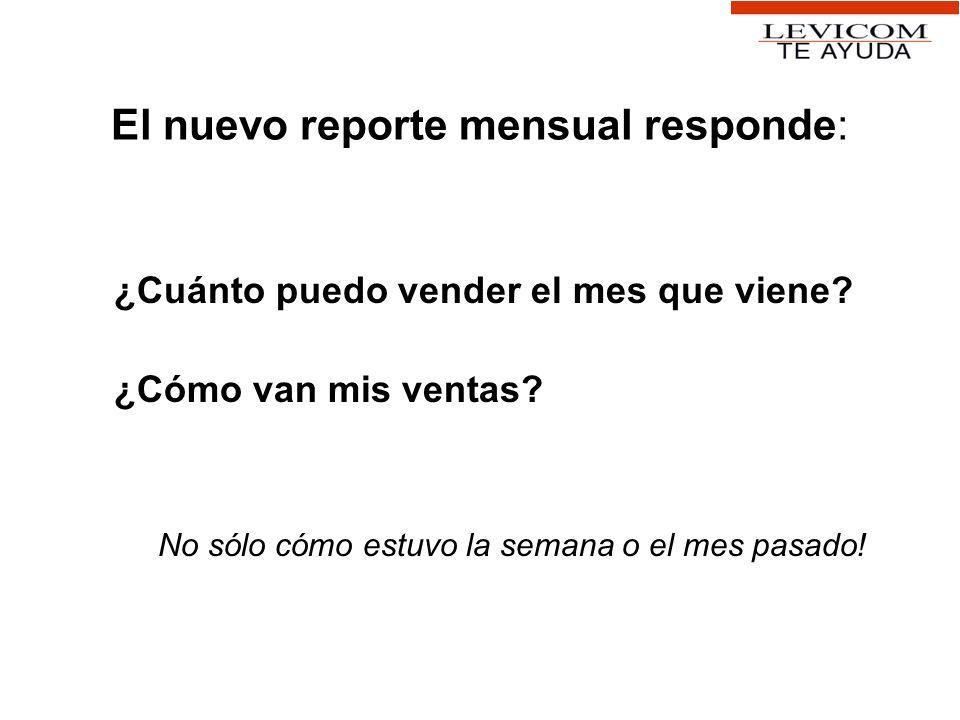 El nuevo reporte mensual responde: