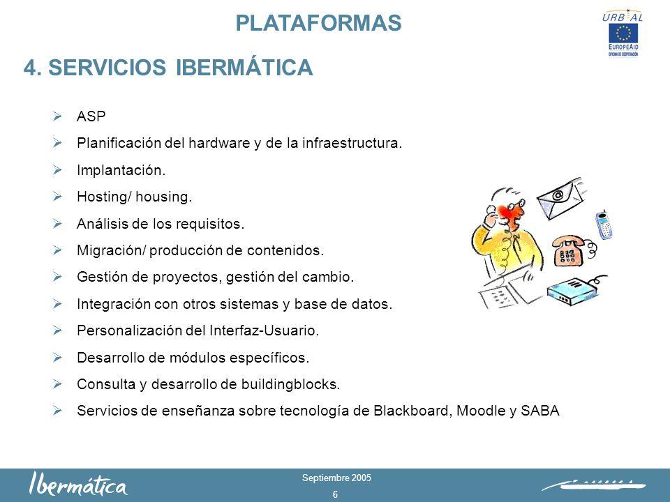 PLATAFORMAS 4. SERVICIOS IBERMÁTICA ASP