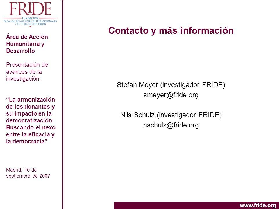 Contacto y más información