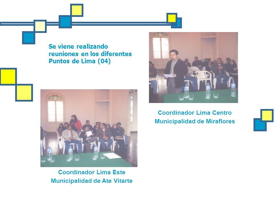 Se viene realizando reuniones en los diferentes Puntos de Lima (04)