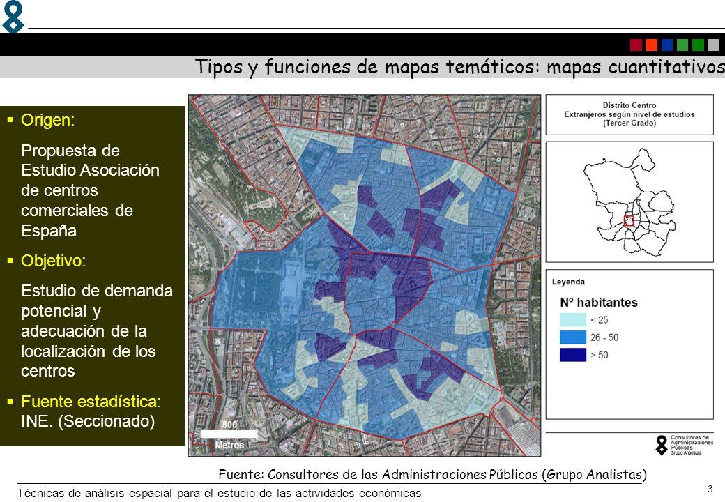 Tipos y funciones de mapas temáticos: mapas cuantitativos