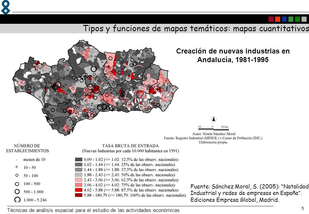 Creación de nuevas industrias en Andalucía, 1981-1995