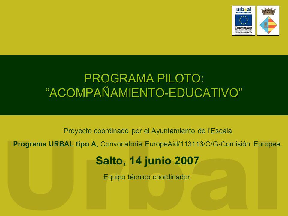 PROGRAMA PILOTO: ACOMPAÑAMIENTO-EDUCATIVO