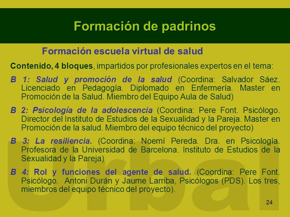 Formación de padrinos Formación escuela virtual de salud