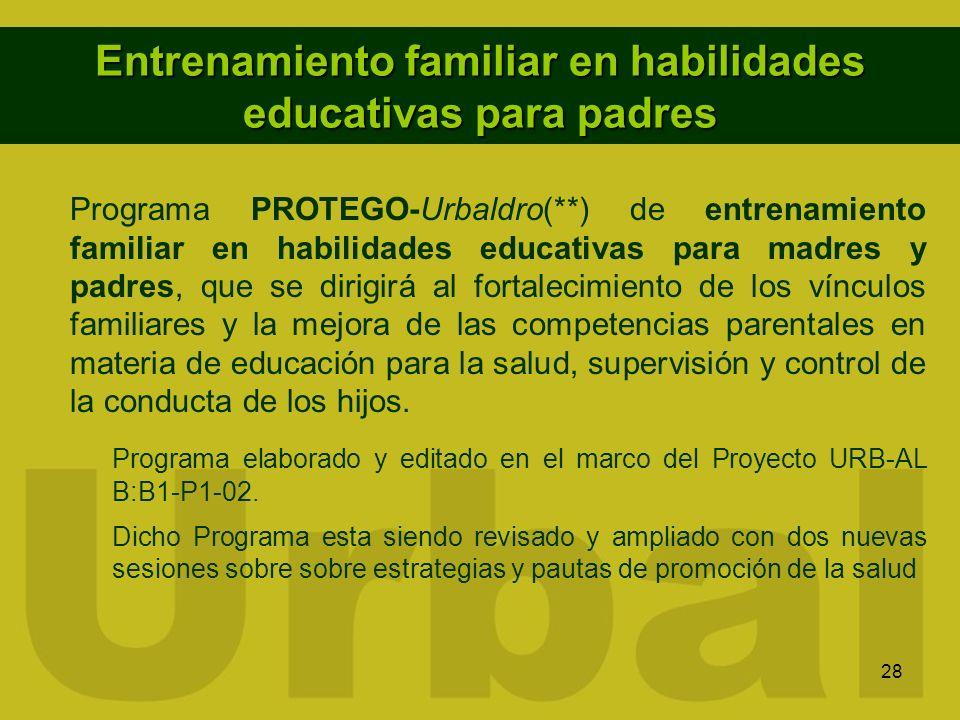 Entrenamiento familiar en habilidades educativas para padres