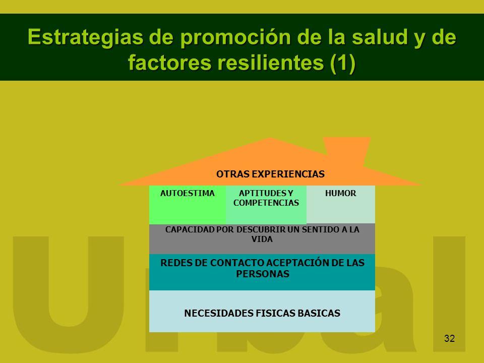 Estrategias de promoción de la salud y de factores resilientes (1)